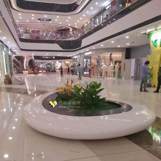 玻璃钢花盆座椅高档休闲海南万达广场时尚选择