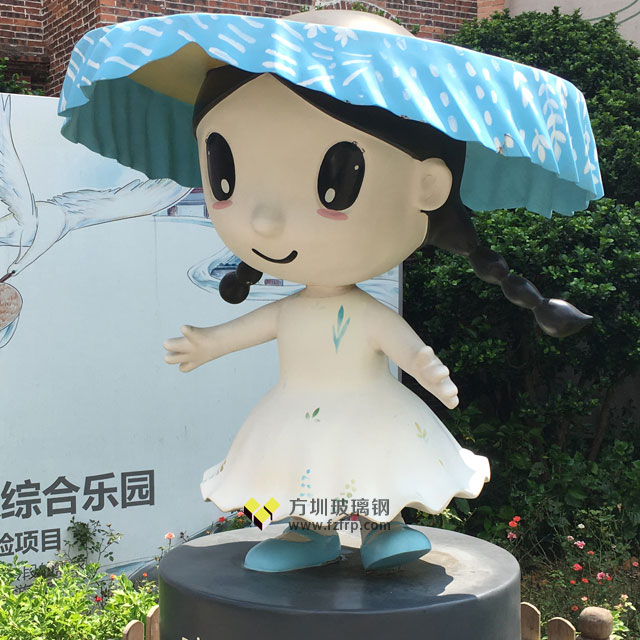 客家形象玻璃钢卡通雕塑深圳旅游小镇特色定制