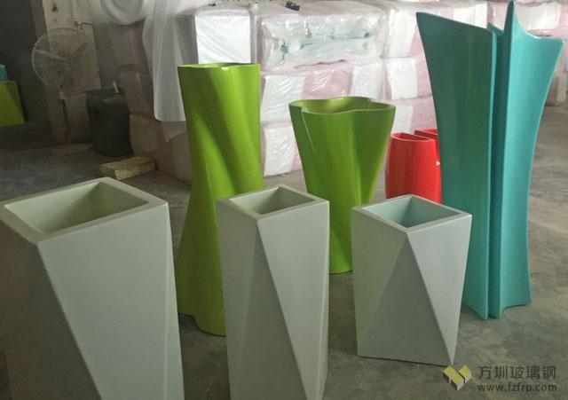 北京商场玻璃钢花器成品图展示