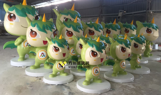 2017西安双创周玻璃钢独角兽卡通雕塑方圳工厂生产图