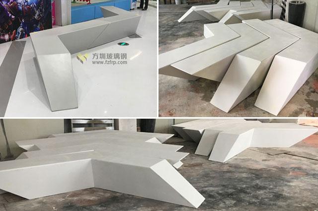 武汉M+购物中心玻璃钢组合休闲座椅方圳工厂生产图