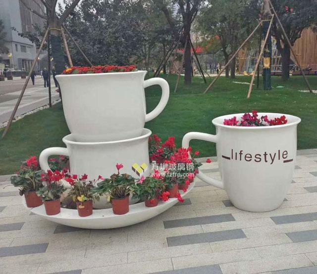 玻璃钢组合花盆摆件苏州园林景观户外绿化新容器