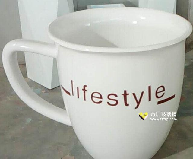 苏州园林景观户外绿化茶杯造型玻璃钢花盆摆件