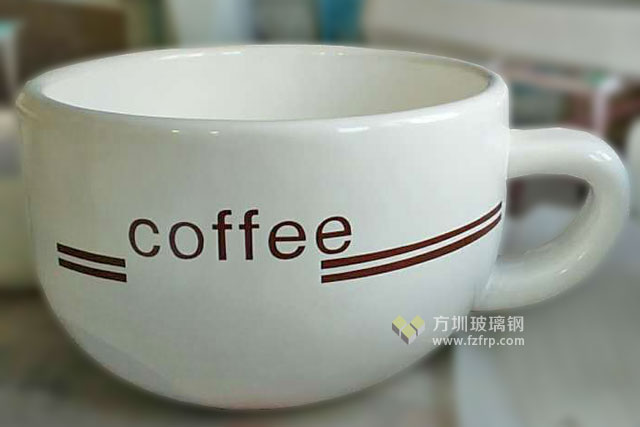 陕西西安高新区广场景观绿化玻璃钢咖啡杯花盆工厂成品图