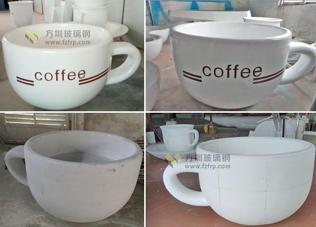 陕西西安高新区广场景观绿化玻璃钢咖啡杯花盆方圳生产图