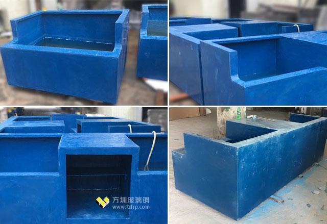 广东江门海鲜摊玻璃钢鱼池方圳工厂生产细节图