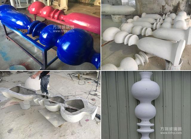 海南KTV玻璃钢造型装饰柱工厂生产图