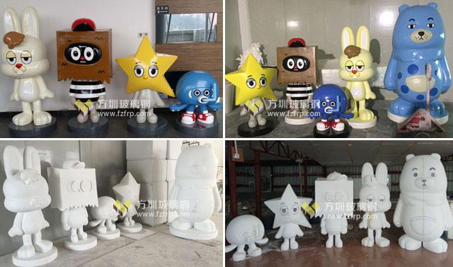品牌女装形象玻璃钢卡通公仔雕塑工厂生产图