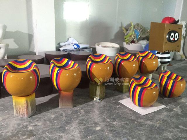 创意玻璃钢彩色凳子浙江主题乐园个性定制