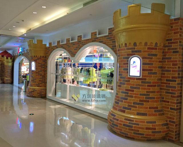 玻璃钢儿童主题装饰广东普宁CoCo童堡