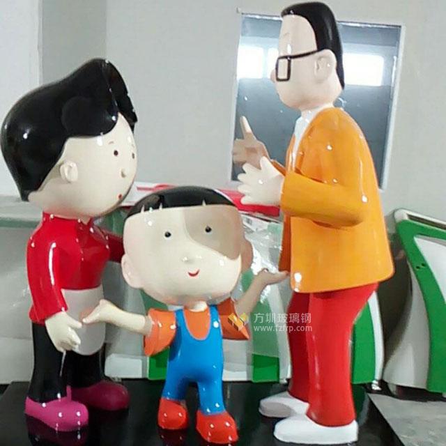 陕西新里城玻璃钢动漫雕塑造型摆件工厂生产图