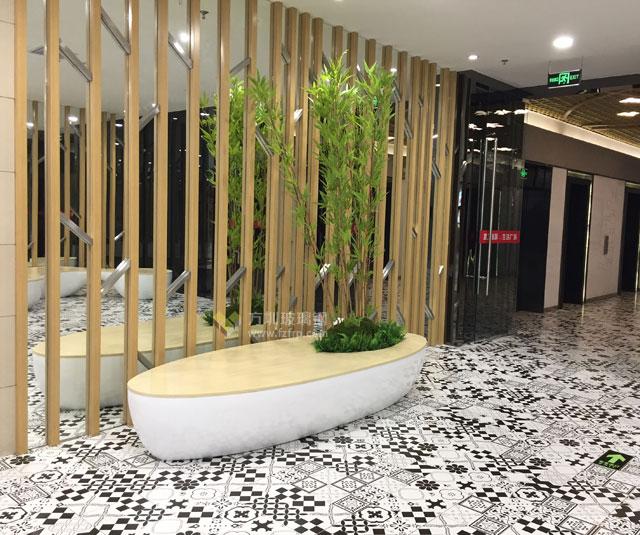 玻璃钢实木休闲椅提升云南昆明沃尔玛购物体验