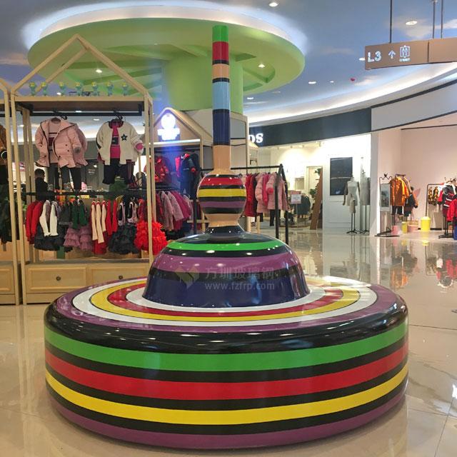 湖南商场棒棒糖创意造型玻璃钢休闲椅太出彩了