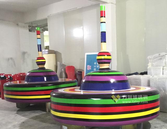 湖南商场棒棒糖创意造型玻璃钢休闲椅方圳工厂成品图