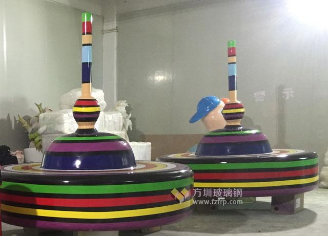 湖南商场棒棒糖创意造型玻璃钢休闲椅方圳工厂生产图