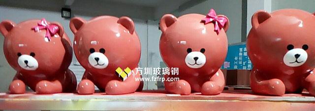湖南购物中心玻璃钢熊雕塑墙面装饰方圳工厂生产图