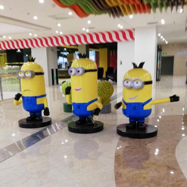 陕西购物中心呆萌的玻璃钢动漫卡通雕塑