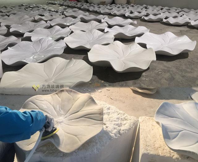 湖南岳阳步步高商场玻璃钢荷叶吊饰方圳工厂生产图