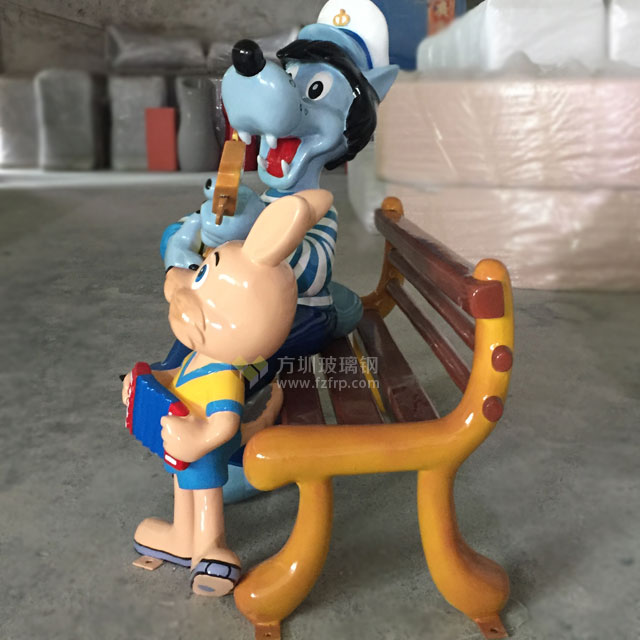 玻璃钢卡通吉他狗雕塑形象经典出口品质工厂生产图