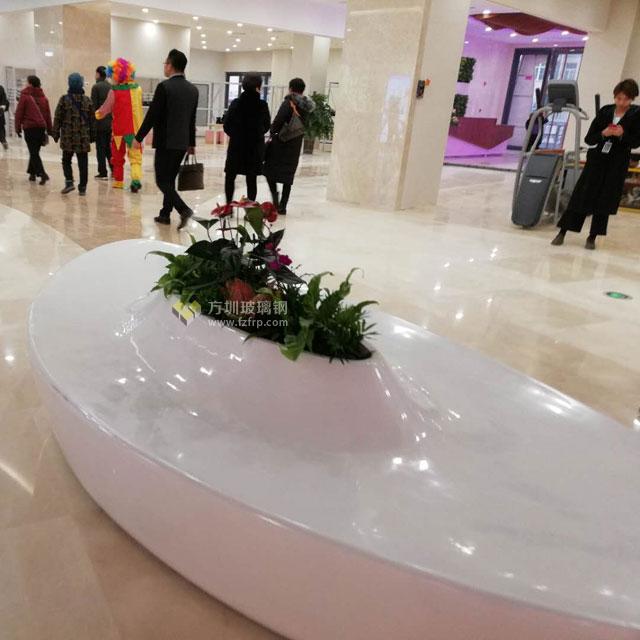 可乘坐的大型玻璃钢花盆提升陕西商场购物体验