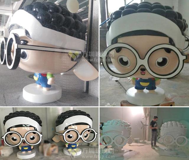 玻璃钢卡通男孩雕塑书生造型暑假引爆深圳书城