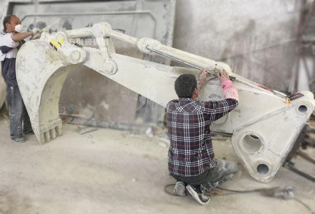 玻璃钢挖机造型门头