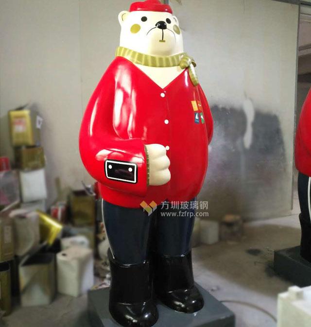 深圳华南城玻璃钢迎宾熊喜迎八方客进馆