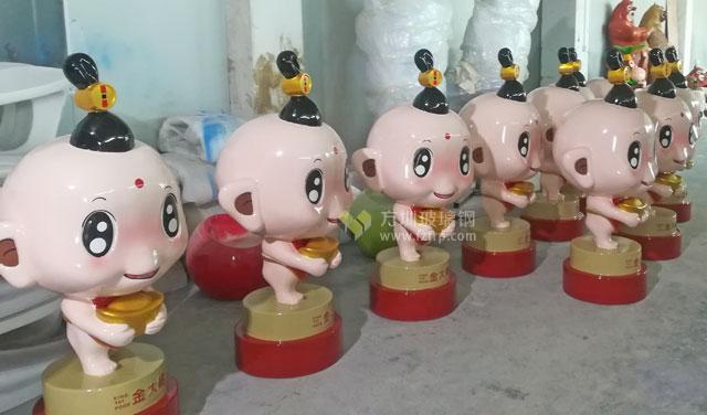 深圳珠宝企业定制玻璃钢卡通公仔雕塑