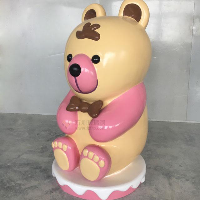 澳门商场玻璃钢卡通熊雕塑摆件