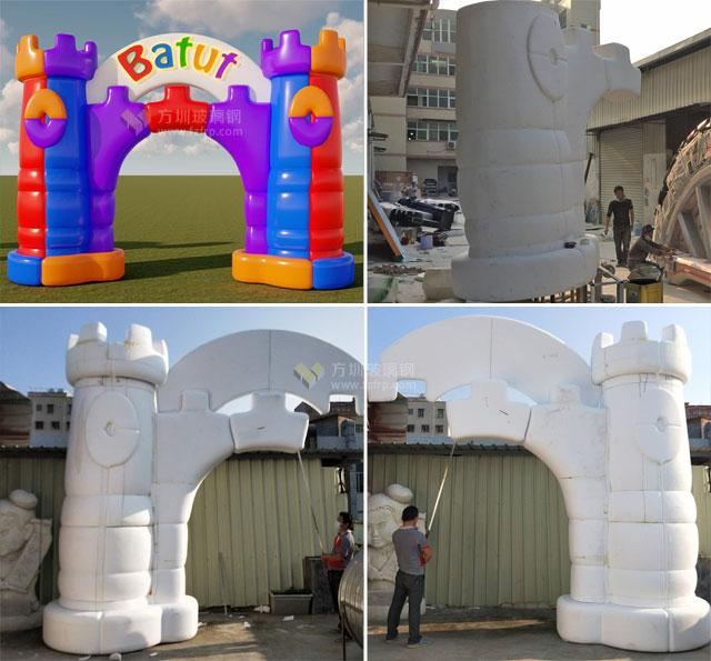 儿童游乐场玻璃钢城堡门头造型美观大气