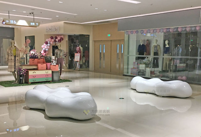 玻璃钢云朵造型椅黑龙江商场美陈创意休闲椅