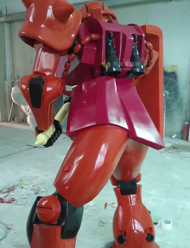 广东动漫公司定制玻璃钢机器人雕塑模型