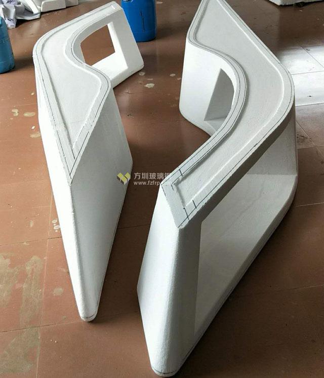 湖南购物中心定制玻璃钢创意长椅