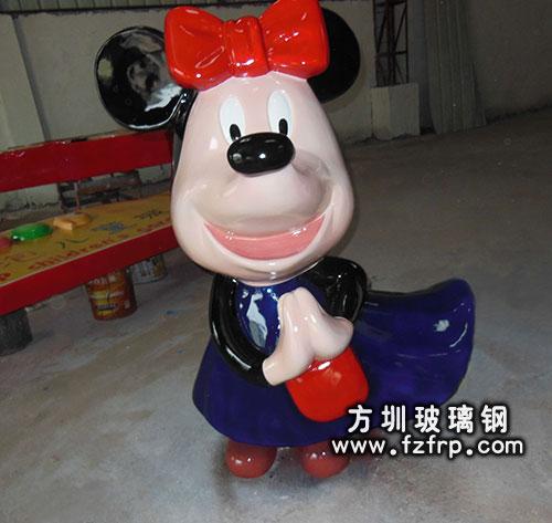 玻璃钢卡通公仔米老鼠雕塑