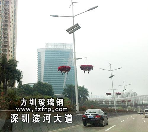 路灯悬挂式多边形花盆