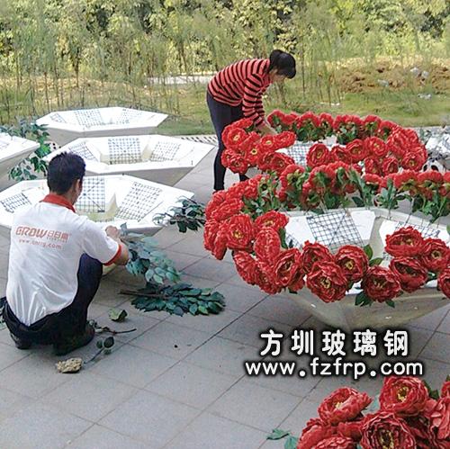 玻璃钢室内花盆HP-007-2
