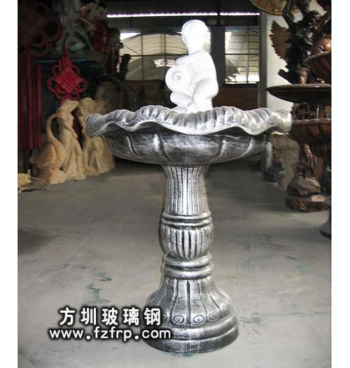 HP177室外欧式玻璃钢喷泉花盆