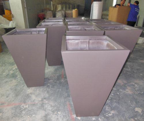 海南玻璃钢方锥形花盆