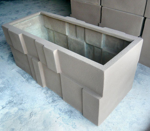 广东玻璃钢仿砂岩景观花箱