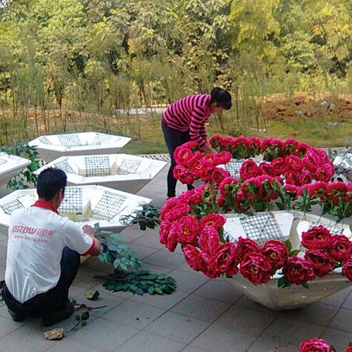 广东玻璃钢户外景观花盆