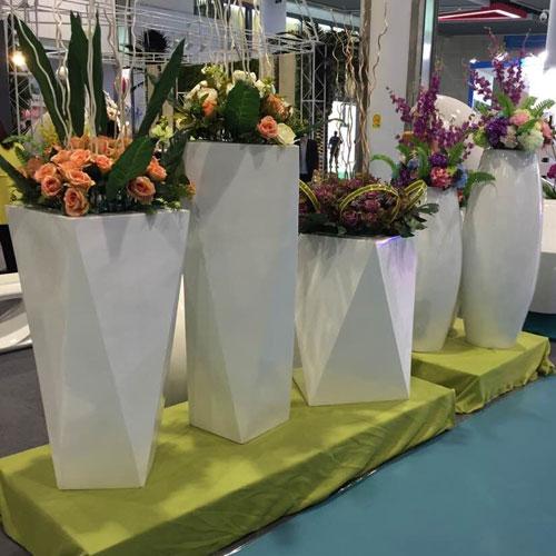 吉林玻璃钢商场景观花盆
