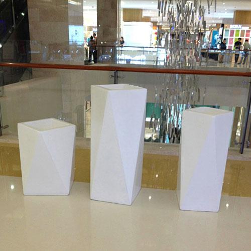 广州商场玻璃钢几何组合花盆