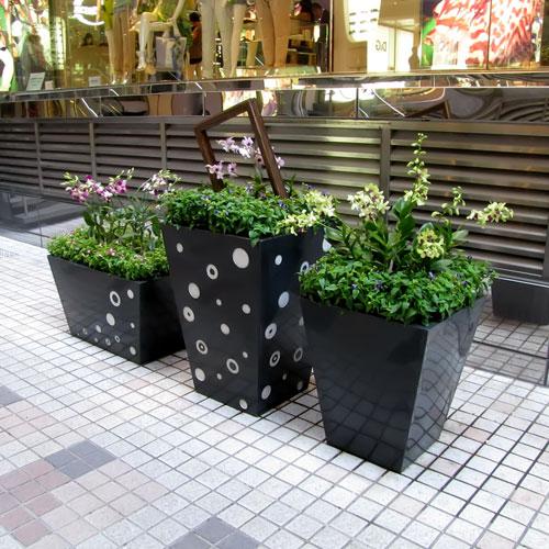 云南景区玻璃钢组合花盆