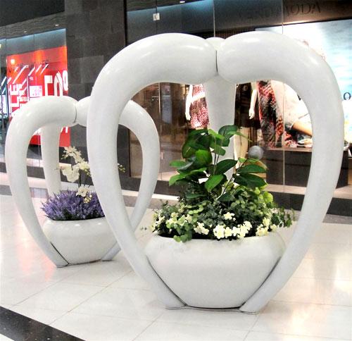 陕西商场玻璃钢艺术花器