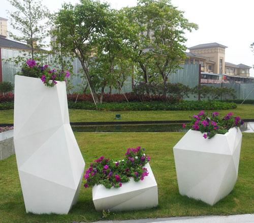 安徽玻璃钢多边形景观花盆