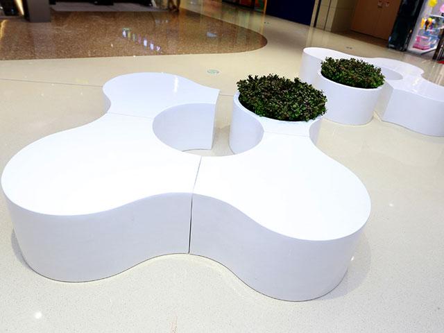 山西玻璃钢拼装休闲椅花盆