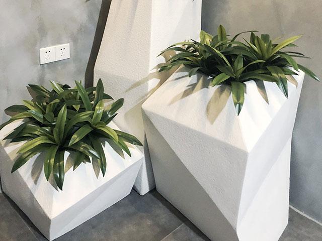 福建玻璃钢菱形组合花盆