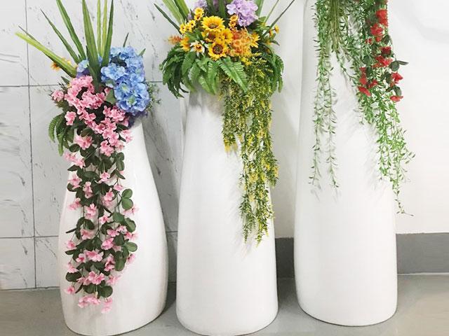 上海商场玻璃钢组合花瓶