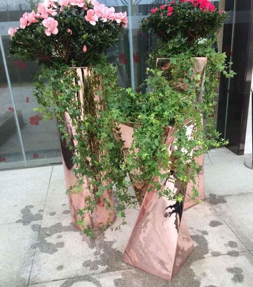 上海玻璃钢电镀美陈花盆