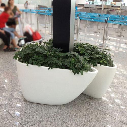 辽宁玻璃钢室内景观花盆